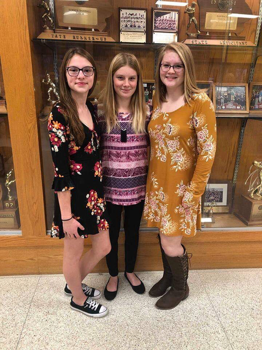 Gracie Cummer, Caitlyn Druecker, & Rebecca Suhr at NEIBA Honor Band