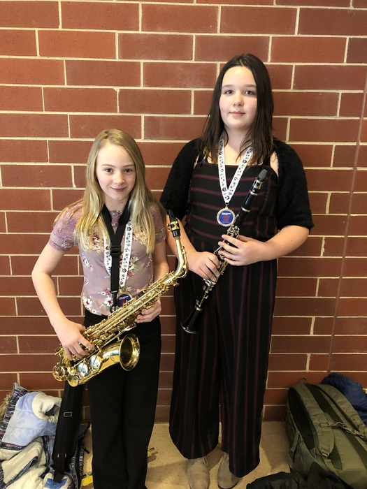 Savannah Orr & Ayden Schutte at Young Musician Honor Band