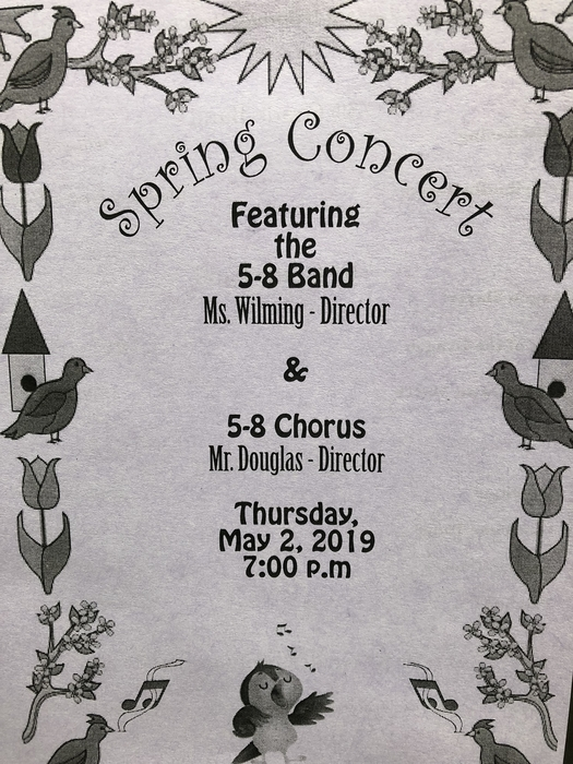 Band and Choir concert Thursday!