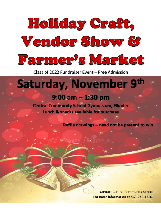 Holiday Craft, Vendor Show & Farmers Market