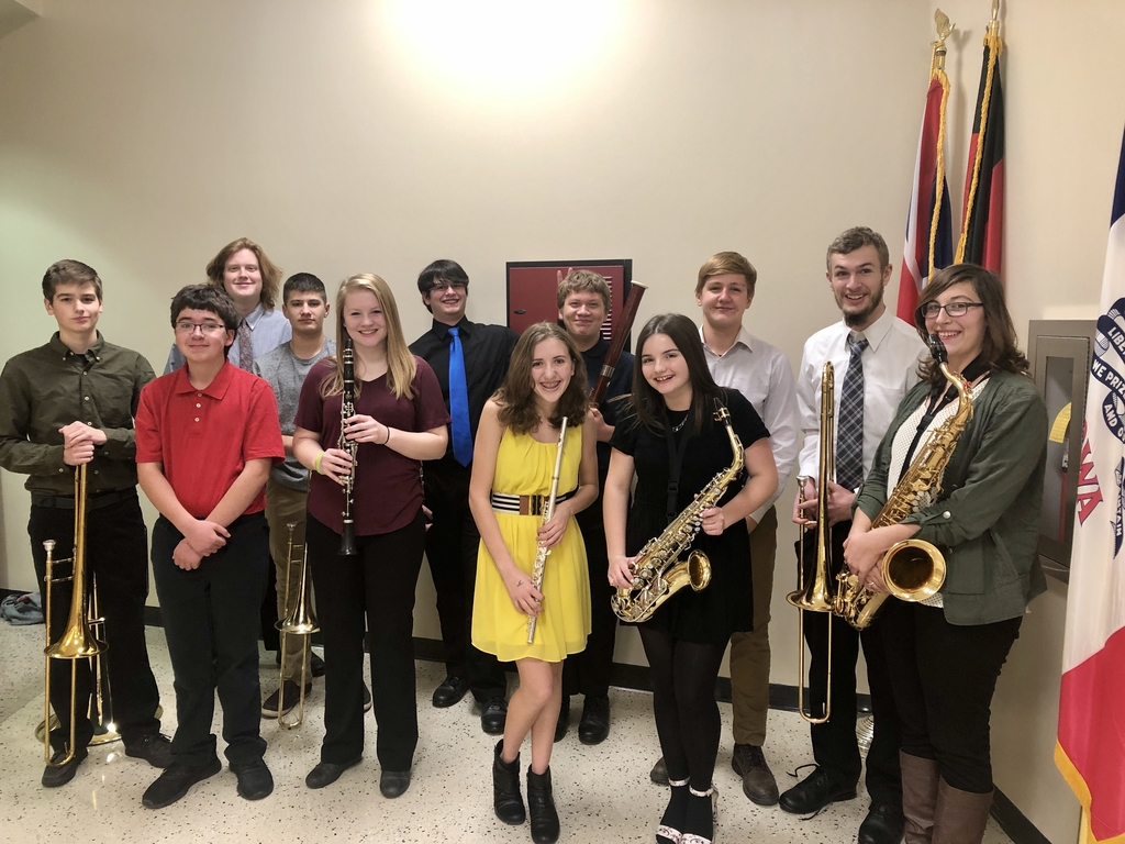 Central students participating in the 2019 UIC Honor Band