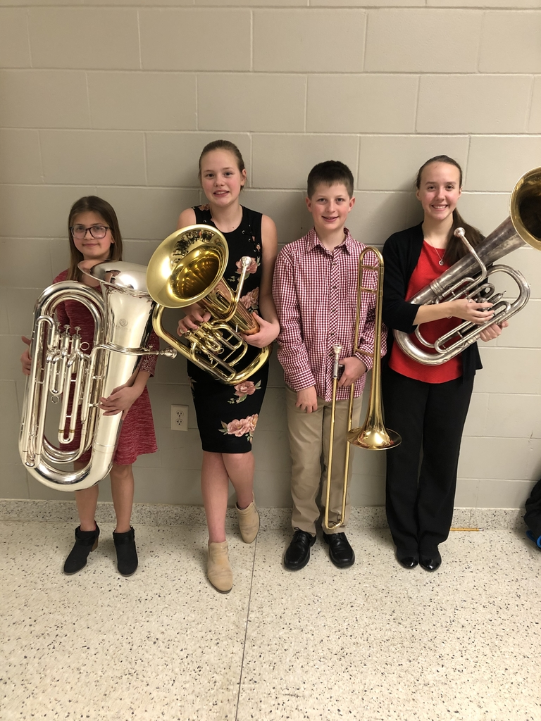 Congratulations to these 4 Central students who were nominated and participated in the Marion Honor Band last night! Keep up the outstanding work Oakley, Brooke, Vaughn, & Beth!